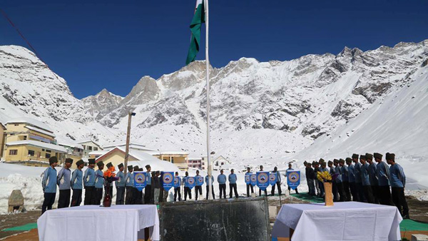 NIM celebrated Republic Day in Kedarnath