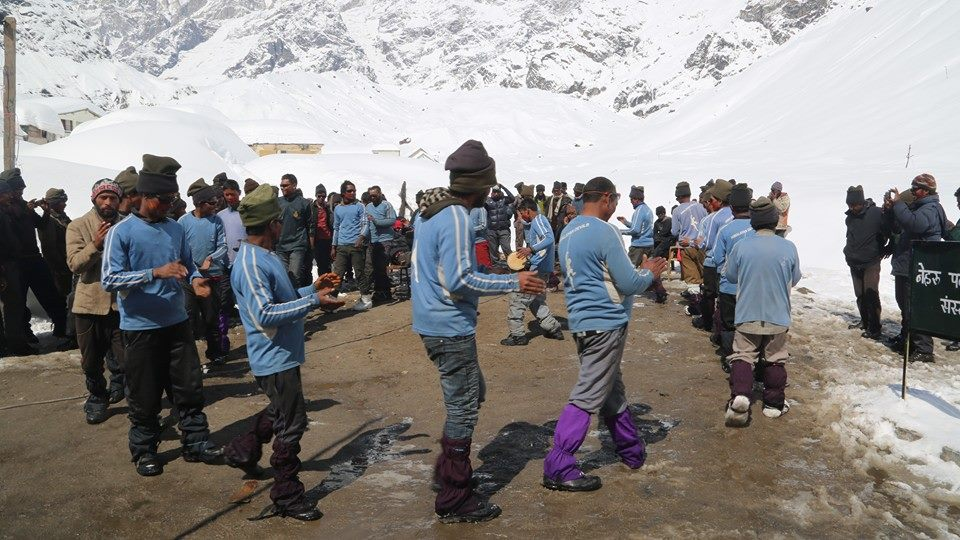 Dancing and Playing Holi in Kedarnath