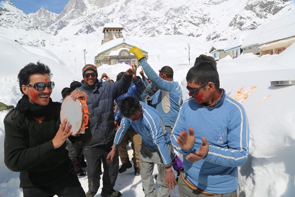 NIM Team first time Holi in Kedarnath