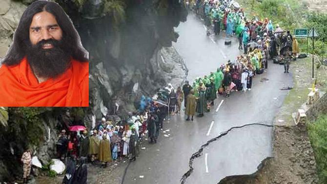 Ramdev with 150 followers return to Gangotri