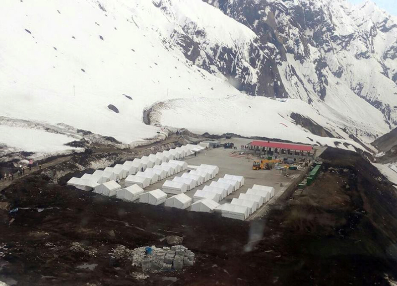 Another Aerial Picture of Kedarnath Tent Colony