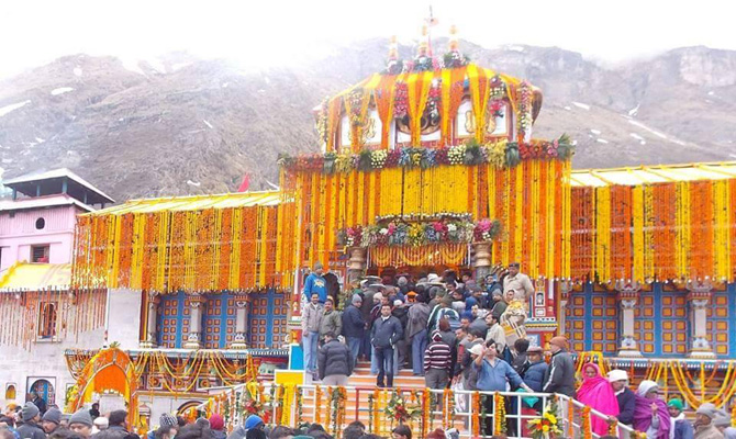 Badrinath Shrine portals open for pilgrims