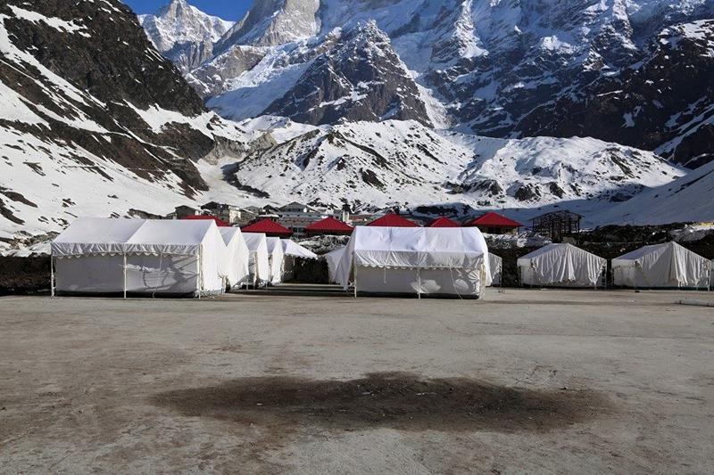 Closer View of Tents in Kedarnath