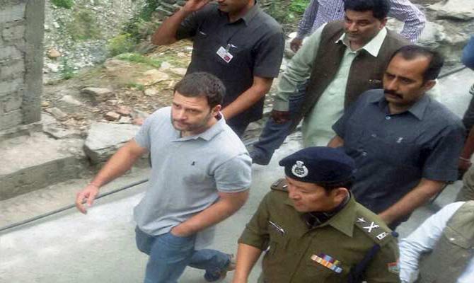 Rahul Gandhi embarks on 16 km trek to Kedar Dham