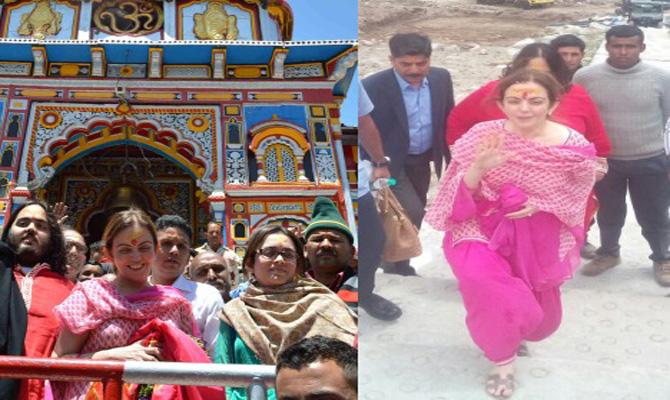 Ambani's visit Badrinath, Kedarnath