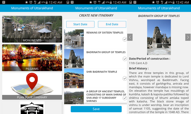 Download Monuments of Uttarakhand App now for Char Dham Yatra info