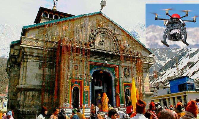 Drone seized on secretly covering Kedar Shrine