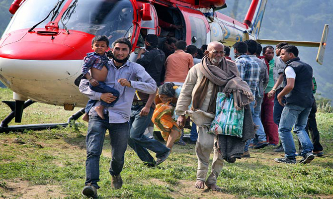 Over 10k pilgrims rescued by land & air rescue operation
