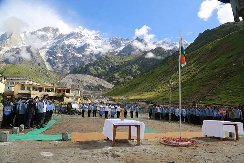 Independence Day 2015 Celeberated in Kedarnath By NIM Team