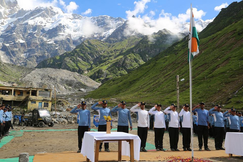 NIM Team on Independence Day 2015 in Kedarnath