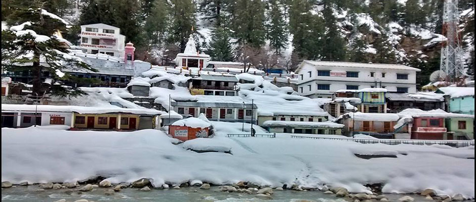 Snowfall in Gangotri