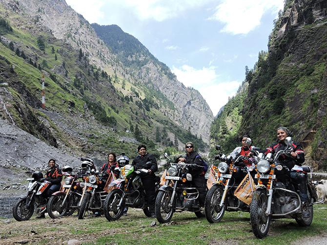 Women group ride to Mana Pass in Uttarakhand
