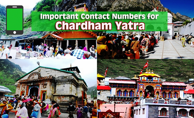 Important Contact Numbers for Chardham Yatra