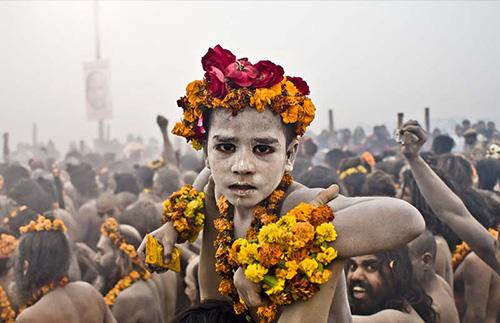 Naga Sadhu at GangaSagar Mela