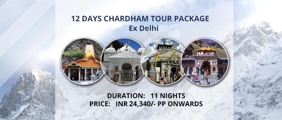 Chardham Package ex Delhi 11 Nights