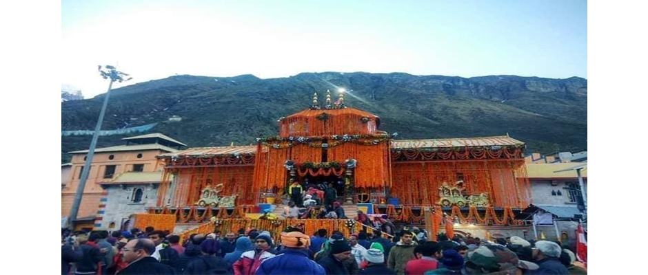 Badrinath Temple on Opening Day 2019