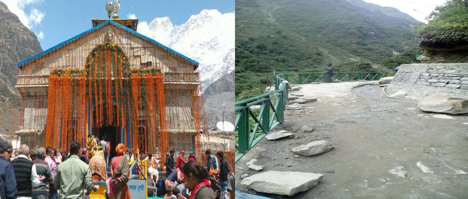 Siderailing at Kedarnath route