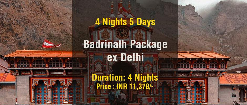 4 Nights 5 Days Badrinath Package ex Delhi