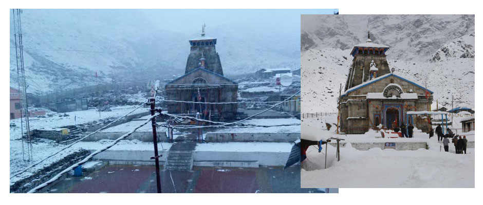 Snowfall in Kedarnath