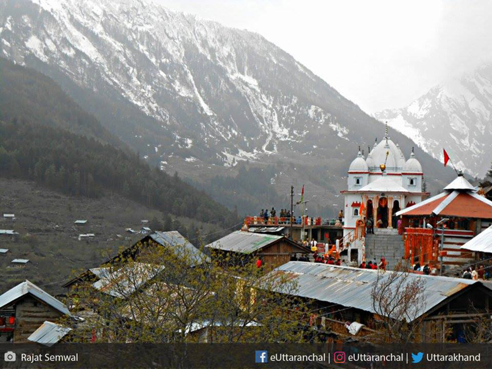 The Ganga temple at Mukhba village of Uttarkashi is also the winter seat of Goddess Ganga.