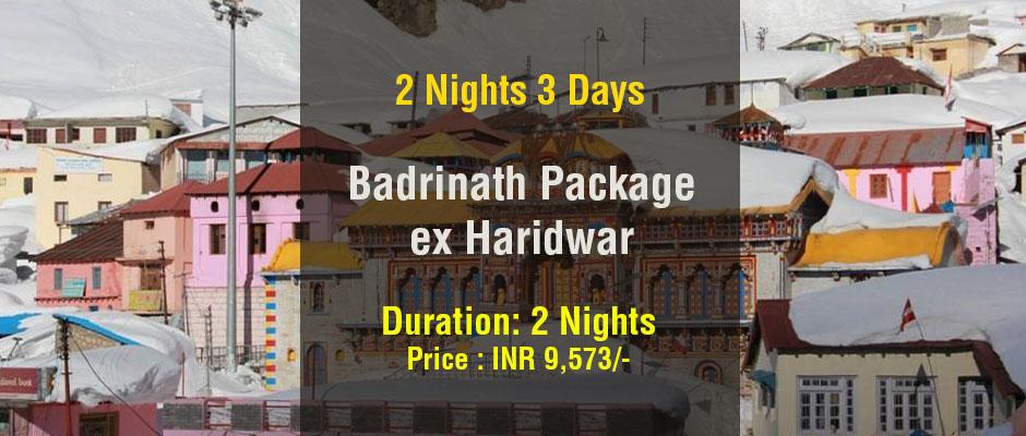Badrinath Package from Haridwar 2 Nights 3 Days