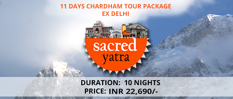 Chardham Tour Package ex Delhi 10 N