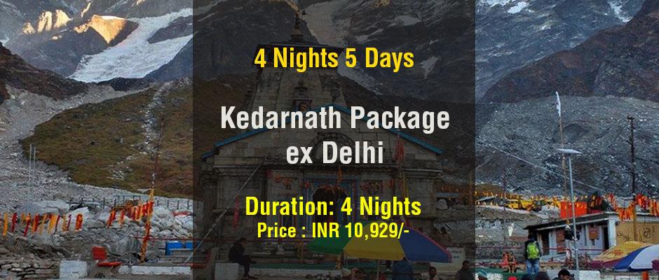Kedarnath Package ex Delhi 4 Nights 5 Days