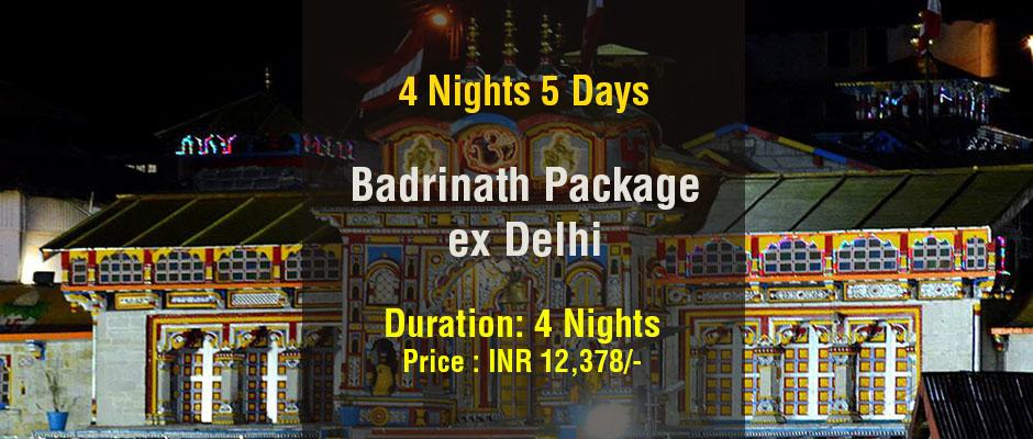 Badrinath Package from Delhi 4 Nights 5 Days