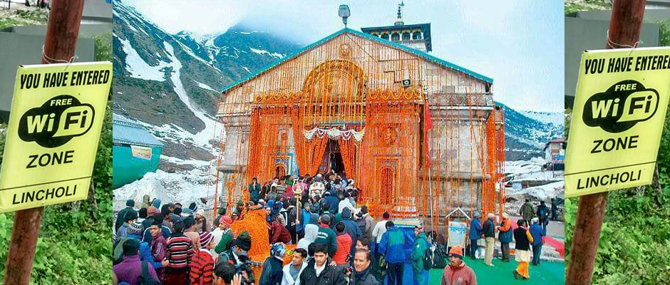Free Wifi facility in Kedarnath
