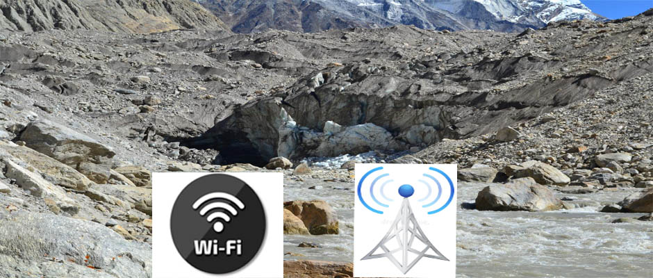 Wi-Fi Connectivity will be available in Gaumukh Trek