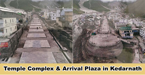 Temple Complex and Arrival Plaza in Kedarnath