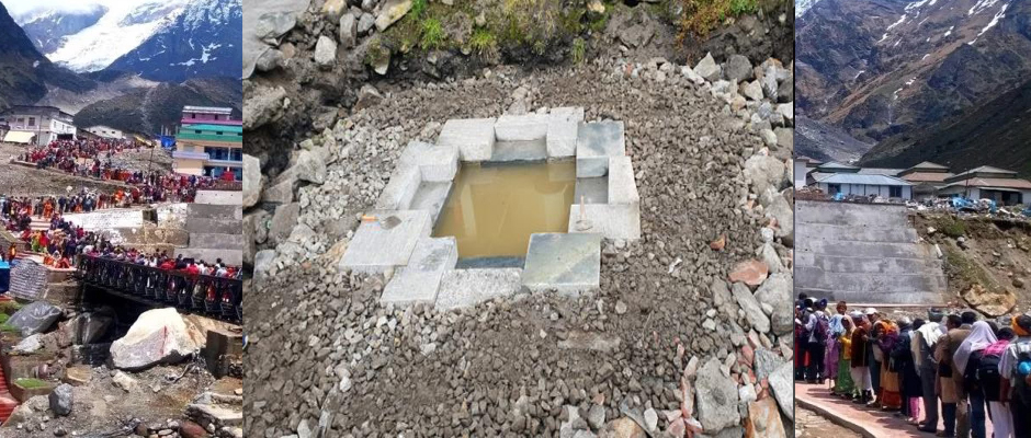 Udaykund Reconstruction work started in Kedarnath