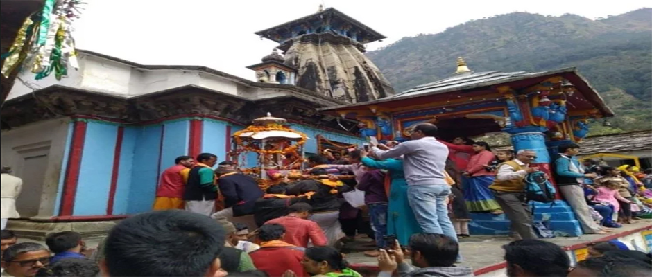 Utsav Doli of Lord Kedarnath at its Winter Abode Omkareshwar Temple