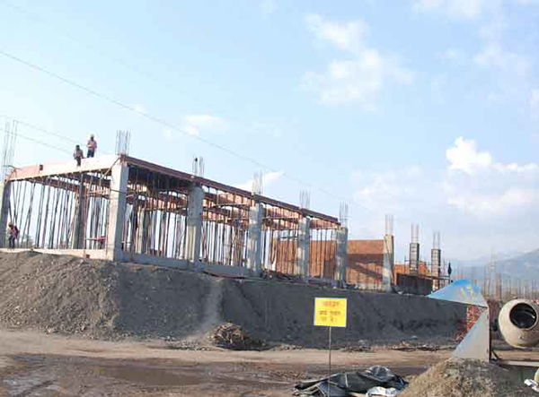 Construction work of the new Rishikesh railway station is in progress