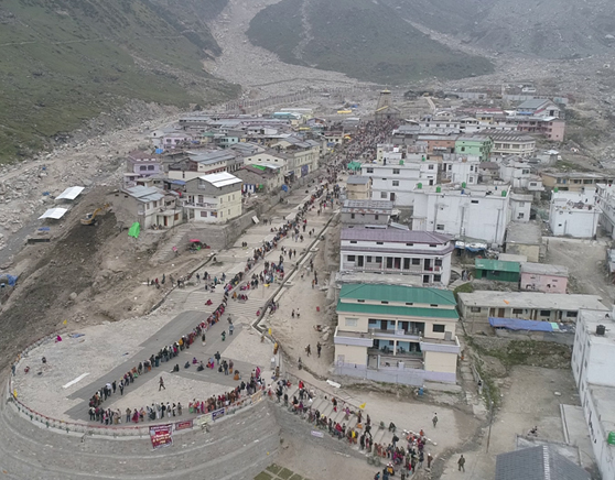 Arrival plaza in Kedarnath