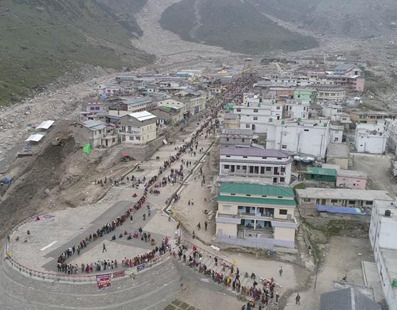 Arrival plaza in Kedarnath