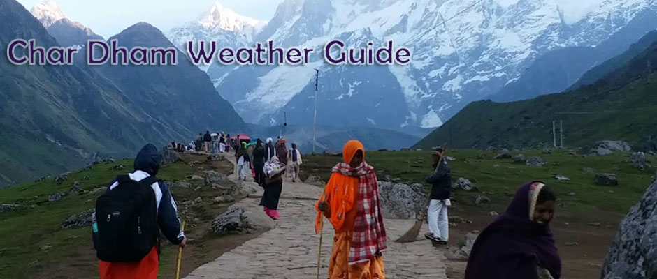 Live Weather updates of Chardham