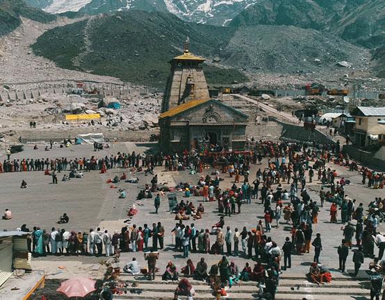 Kedarnath Temple Present Platform