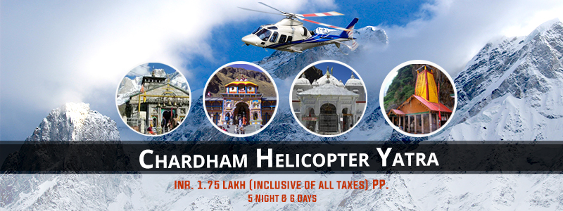 5 Nights Char Dham Helicopter Tour by Heli Yatra Ex Dehradun