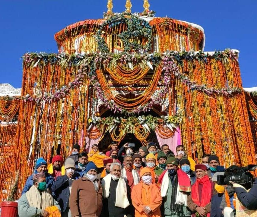 CM Yogi in Badrinath