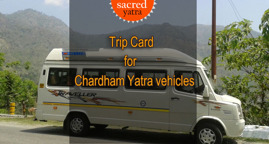 Trip Card for Chardham Yatra vehicles